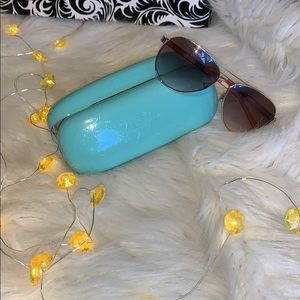 Spade Aviators with geometric pattern and case